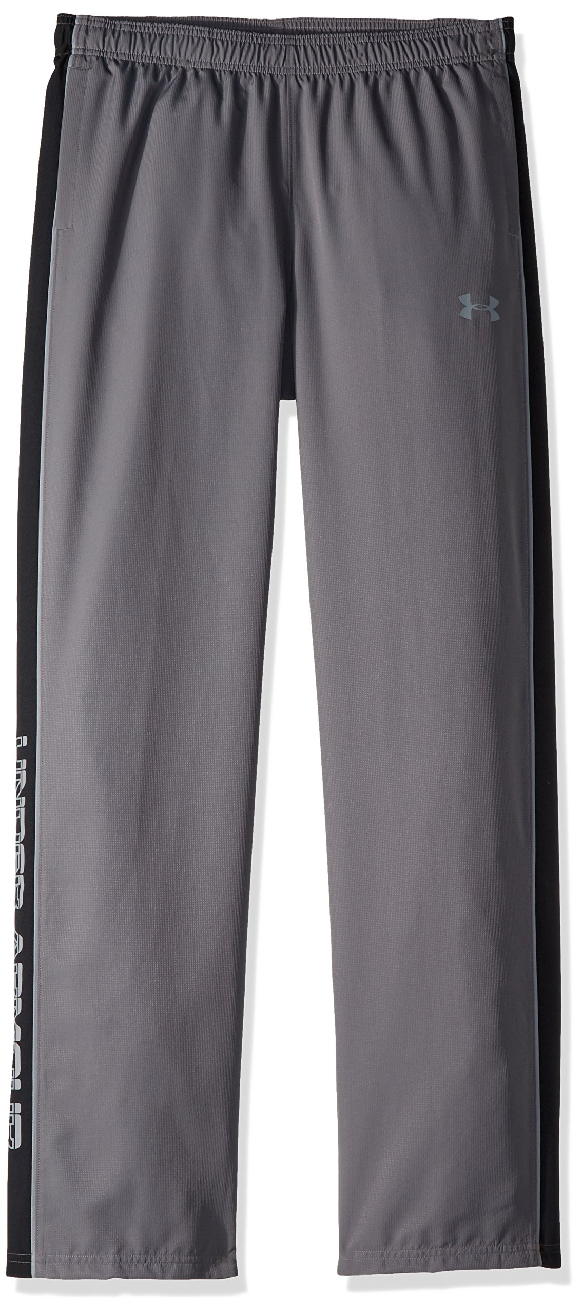 Under Armour Boys Interval Warm-Up Woven Pants, Graphite (040)/Steel, Youth Large