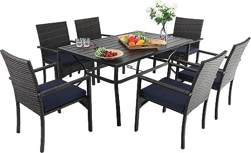 Sophia William Outdoor Patio 7 Pieces Dining Set