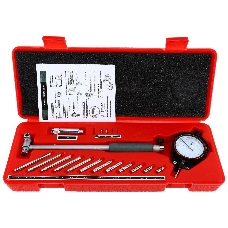 YaeTek 2'' - 6'' Bore Gauge 0.001'' Deep Engine Hole Cylinder Measurement Gage Cylinder Dial Bore Indicator Gauge