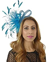 Cute & Fun Charley Feathers Ascot/Derby Fascinator Hat - With Headband