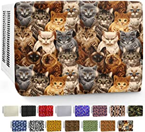 In Wall AC Front Cover (3-Layer) Decorative Air Conditioner Sleeve - Universal Indoor Window Conditioning Unit, Insulated Mount Design, 24 & 28 Inch Heavy Duty Panels for Winter House - Cat