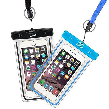 EOTW 2 Stück Wasserdichte Handy Hülle, Wasser- und staubdichte Hülle für iPhone, Samsung, Nexus, HTC und mehr, Super Hülle fü