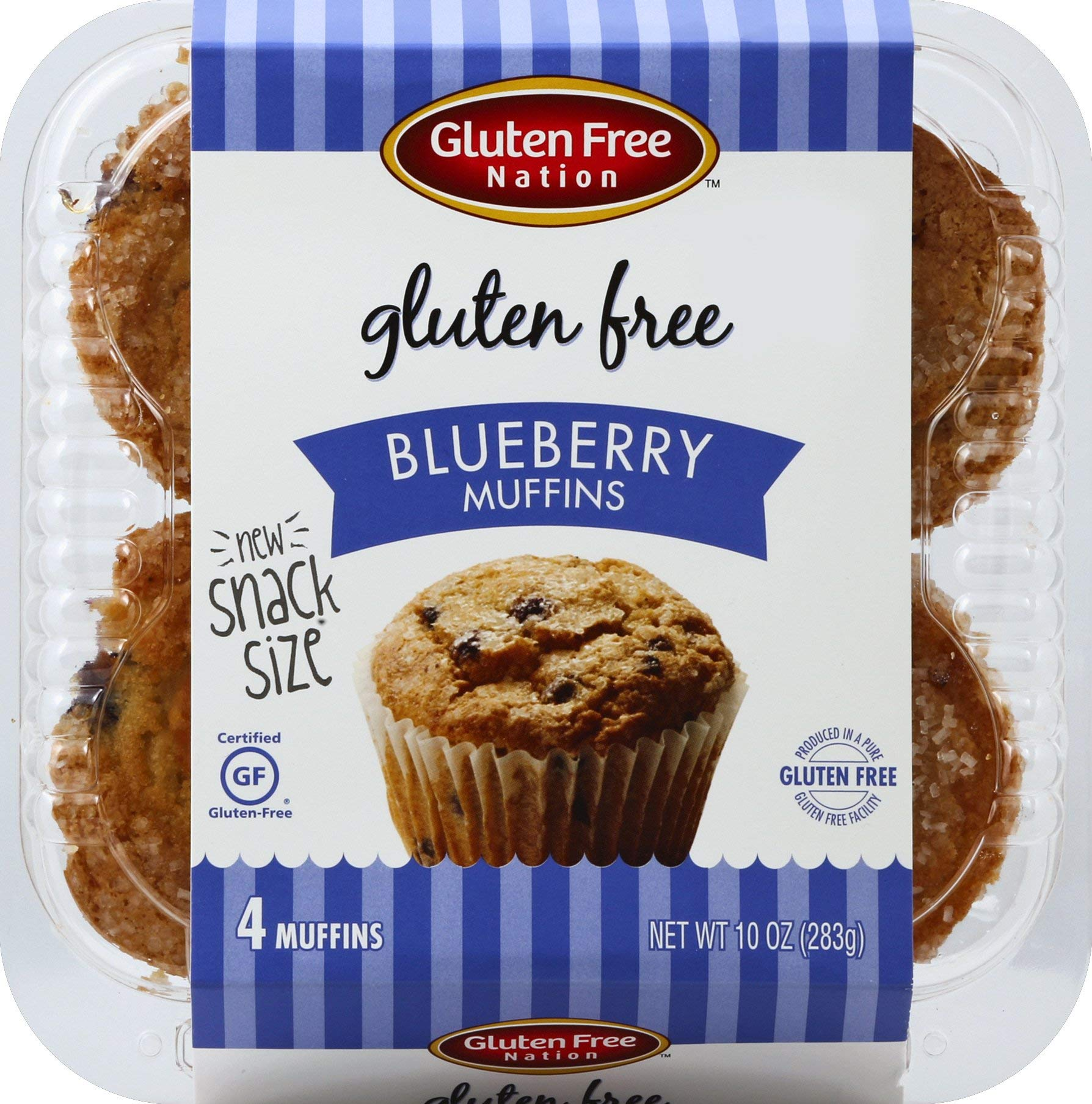 Gluten Free Blueberry Muffins 24-ct. (case of 24 Blueberry Muffins 2.5 oz.)