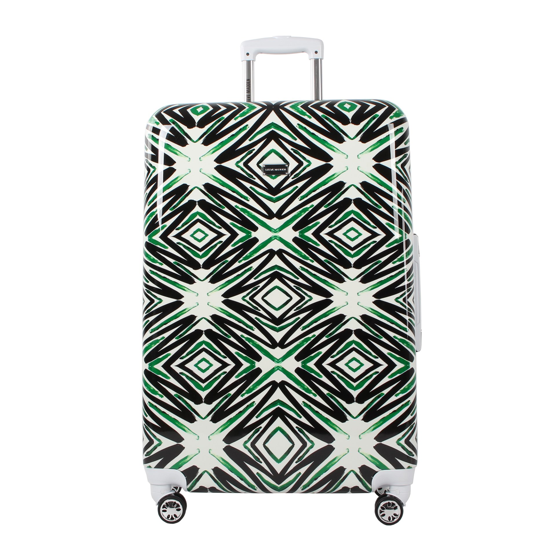 Steve Madden Large Hard Case Luggage With Spinner Wheels (Tribal)