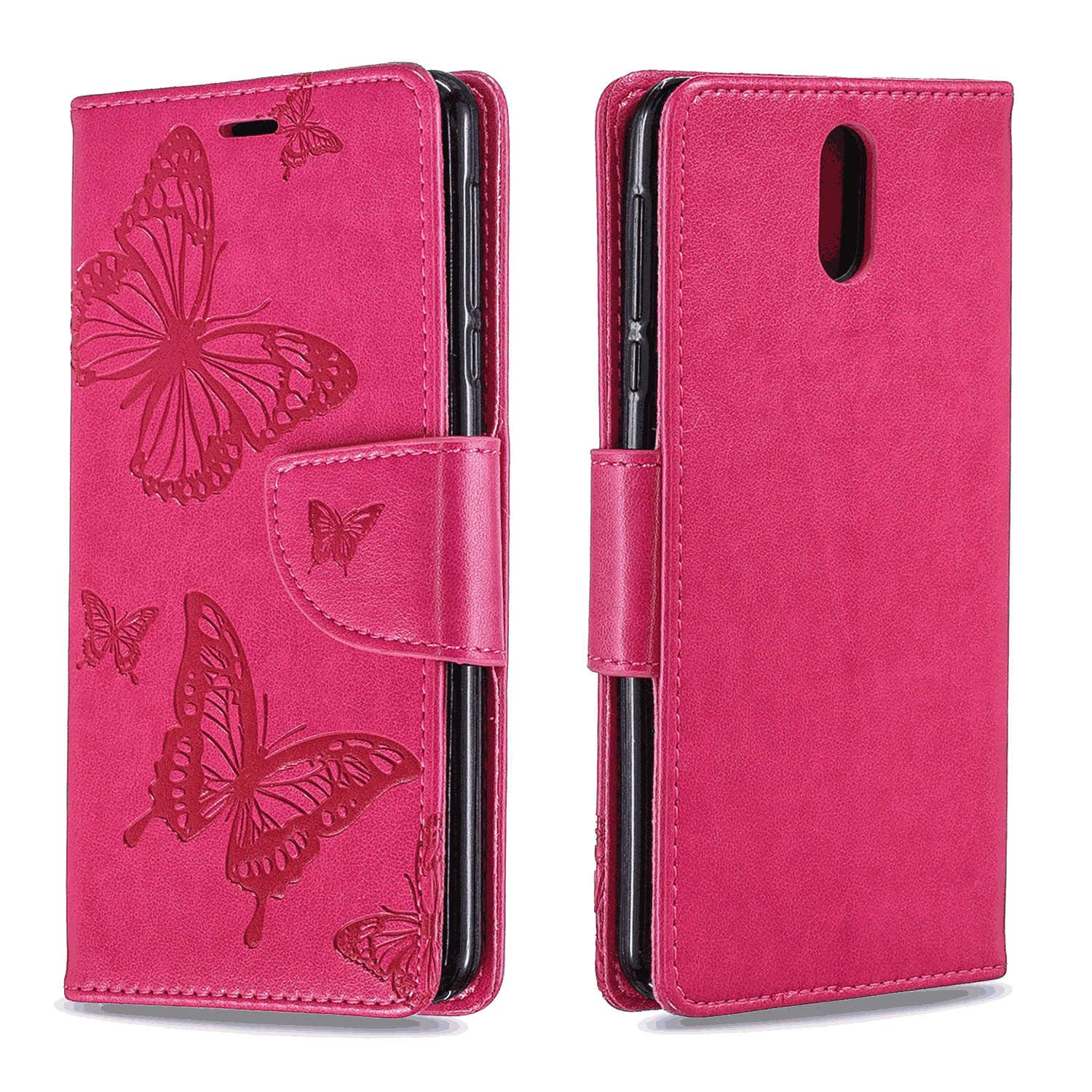iPhone Xs Flip Case Cover for iPhone Xs Leather Mobile Phone case Kickstand Extra-Protective Business Card Holders with Free Waterproof-Bag Delicate