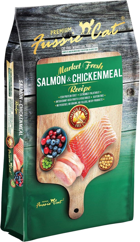 Fussie Cat Market Fresh Salmon & Chicken Meal Formula Grain-Free Dry Cat Food 4lb
