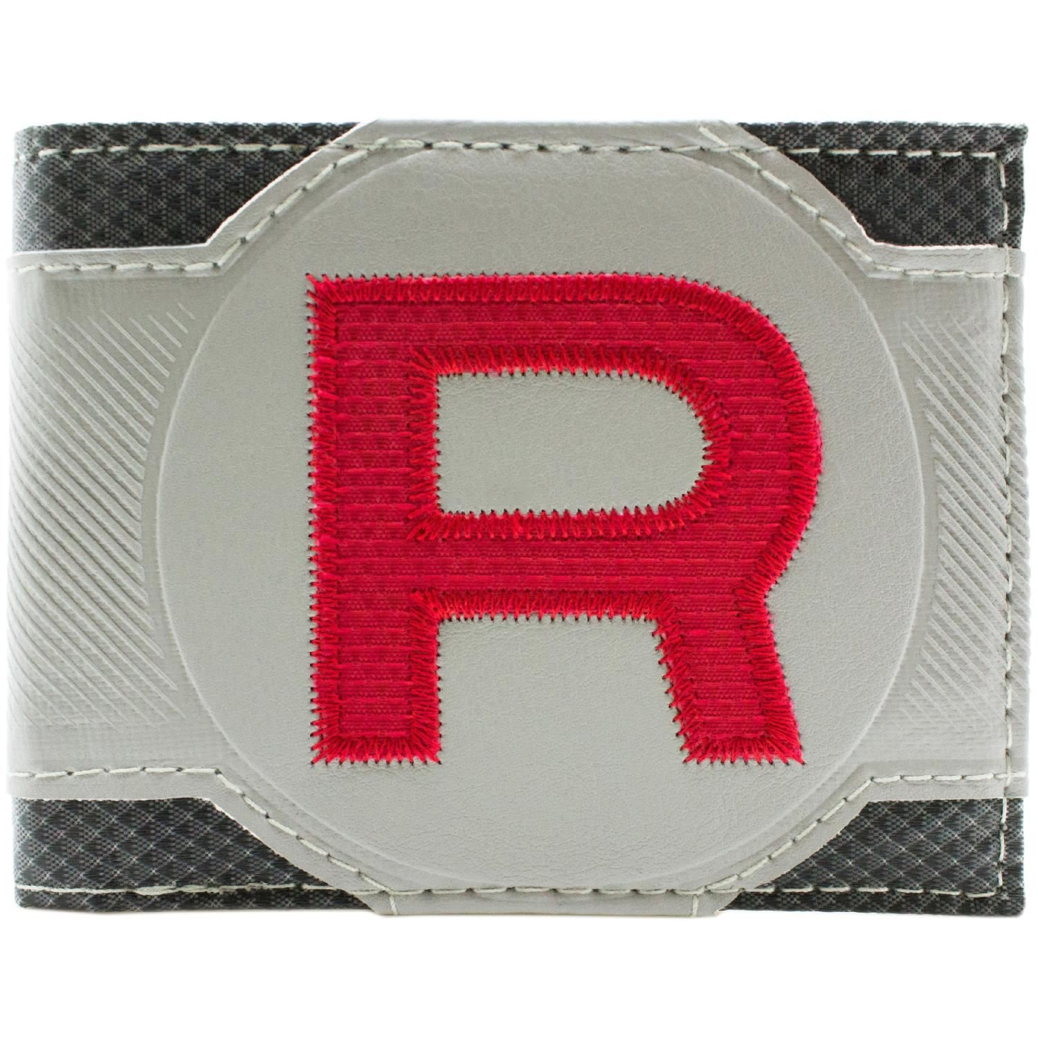 Cartera de Pokemon Team Rocket rojo cosido Gris 28028