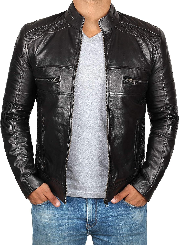 Cafe Racer Bike Wear Brown Motorcycle Men/'s Fashion Genuine Leather Jacket 2020