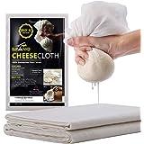 Sufaniq Cheesecloth Grade 90 – 1 Sq Yard Unbleached 100% Cotton Fabric Reusable Ultra Fine Muslin Cloth for Straining, Cookin