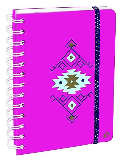 Agenda Escolar con espirales 1 Día/Página 2019-2020 Ethnik, A6/10x15cm, diseño Kilim