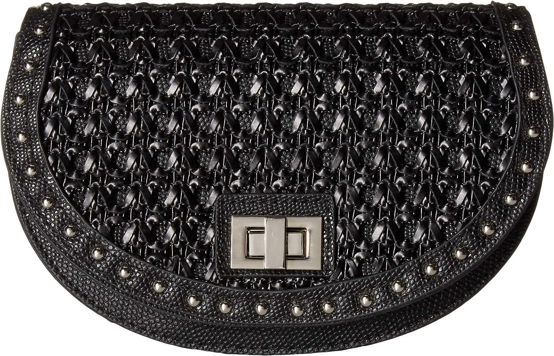 Steve Madden Women's Woven Belt Bag Black SM