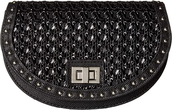 912fe12697e Steve Madden Women's Woven Belt Bag Black MD at Amazon Women's ...