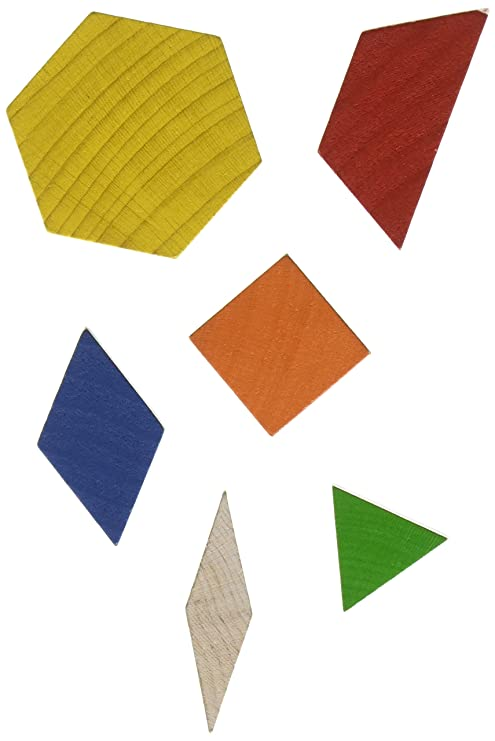amazon com school smart 84980 wooden pattern blocks set of 250