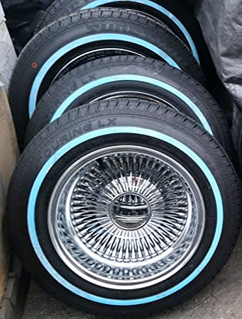 Lowrider Rims And Tires >> Amazon Com 13 100 Spoke Reverse Wire Wheels Knock Offs And White