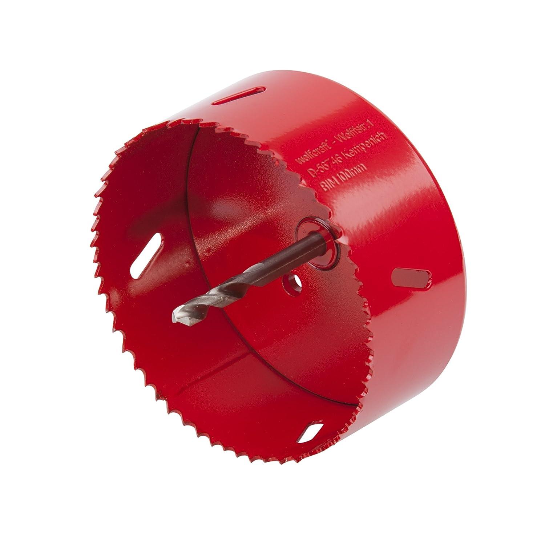 Wolfcraft 5467000 5467000-1 Sierras de Corona BiM Completo con Adaptador y Broca piloto 35 mm Profundidad de Corte 40 mm diam Rojo
