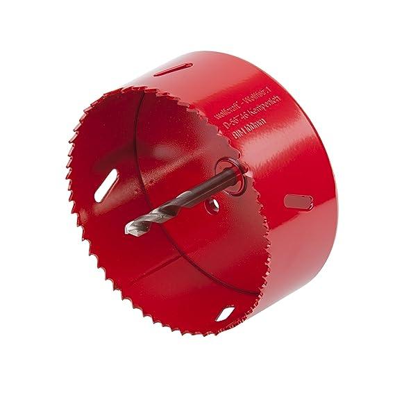 Wolfcraft 5493000 5493000-1 Sierras de Corona BiM Completo con Adaptador y Broca piloto, Profundidad de Corte 40 mm diam, Rojo Ø 100 mm: Amazon.es: ...