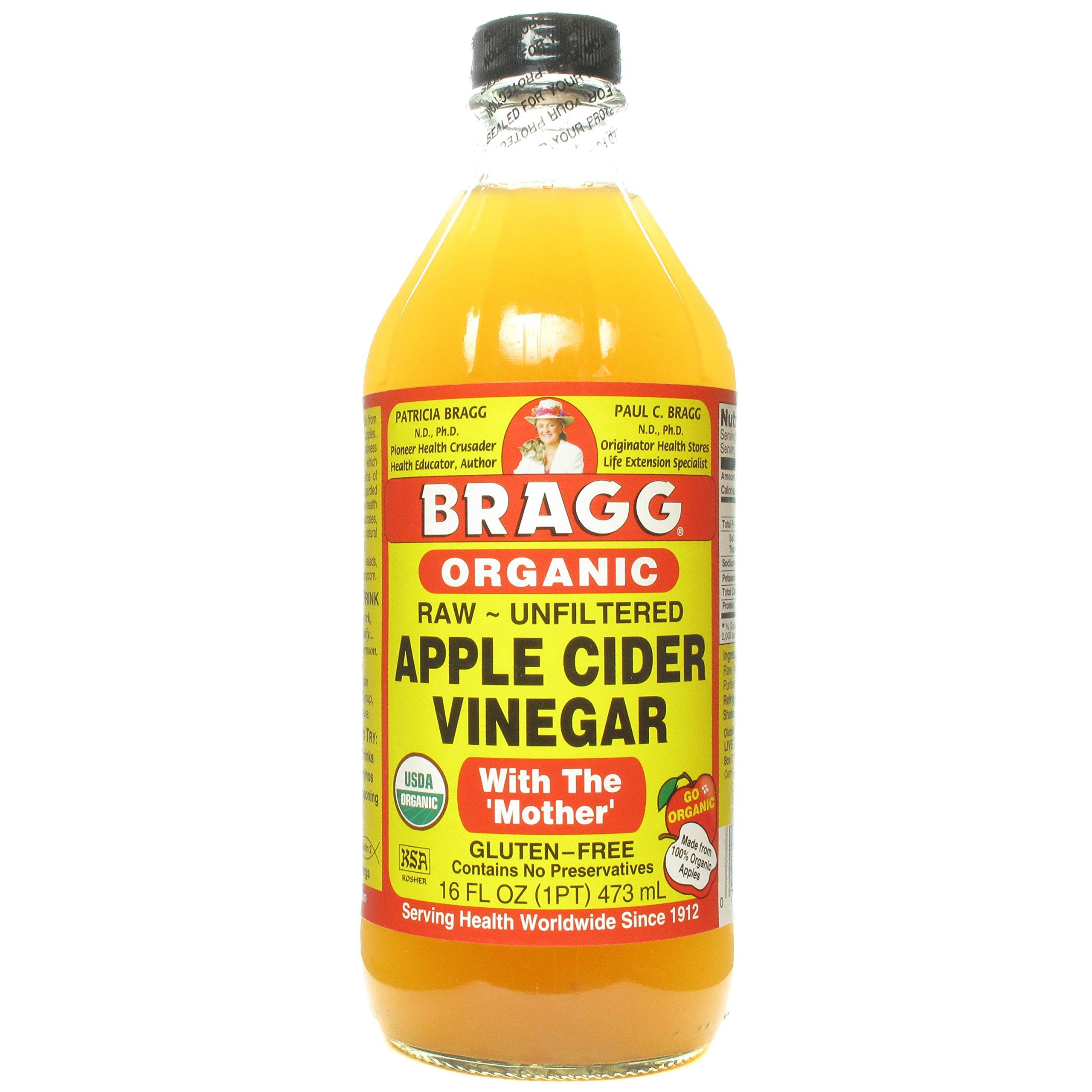 BRAGG VINEGAR APPLE CIDER UNF ORG, 16 OZ by Bragg