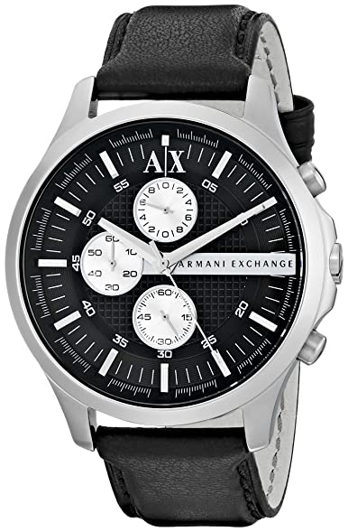Armani Exchange Mens AX2153 Black Leather Watch