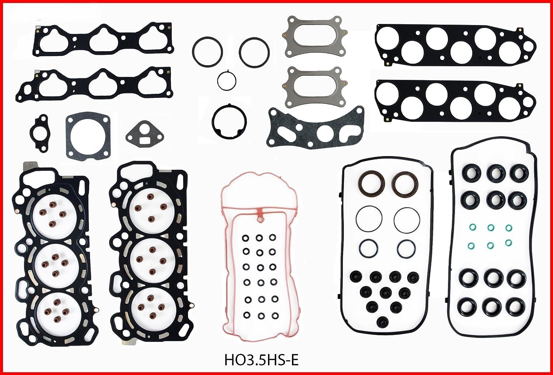 ReRing Kit w//Full Gasket Set Rings Bearings FITS 2009-2015 Honda Pilot Ridgeline Odyssey 3.5L V6 J35Z J35Z4//Z5//Z8 VTEC