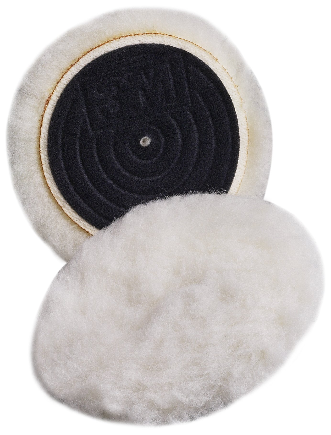 3M Finesse-it Knit II Buffing Pad 85099, Hook-and-Loop, 3'' Diameter, 11/16'' Pile Height, White (Pack of 10) by Cubitron II
