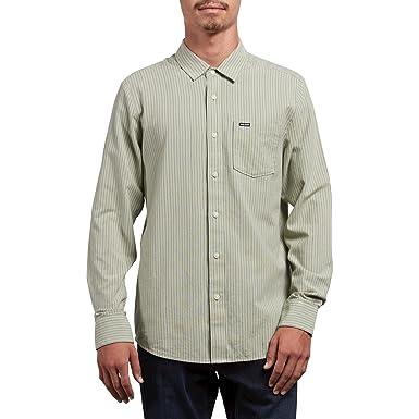 Volcom Hombre A0531800 Manga Larga Camisa de Botones - Verde - XX-Large: Amazon.es: Ropa y accesorios