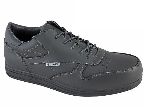 BVAEAYQ5 Women Mens Superb Quality Leather Lawn Bowls Shoes Grey Unusual