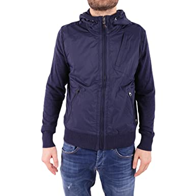 Parajumpers Men's Pmknikn02584 Blue Cotton Outerwear Jacket