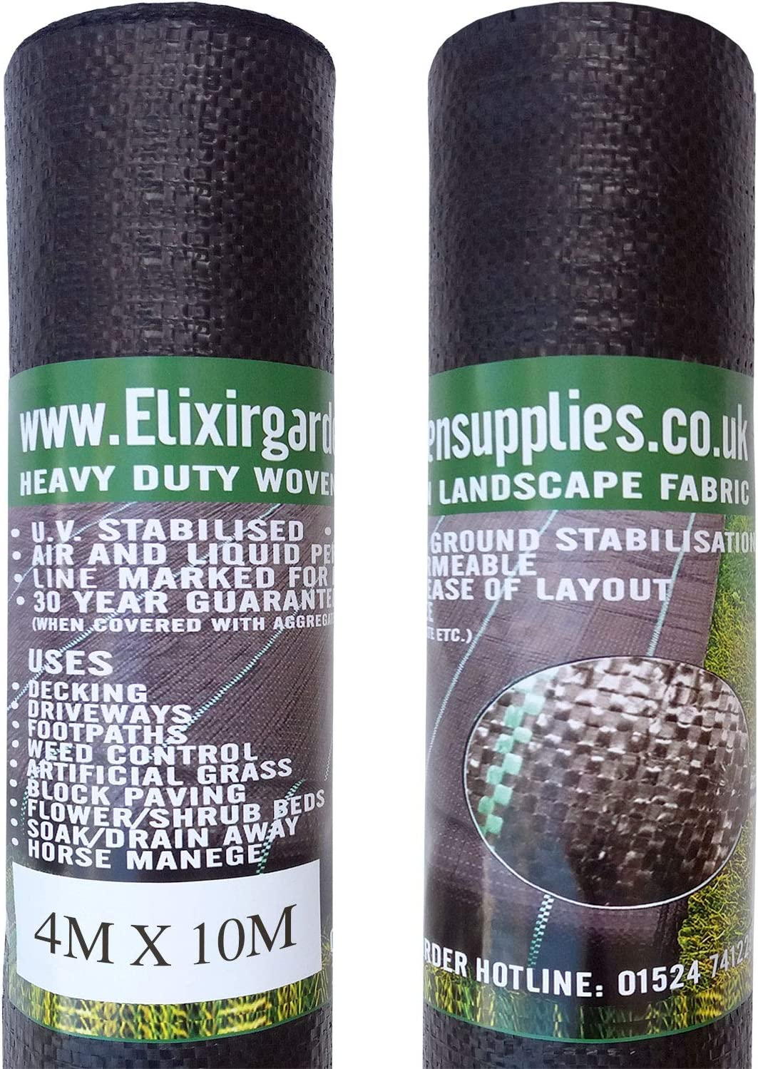 Elixir Gardens 4m x 25m Woven Weed Control Landscape Fabric