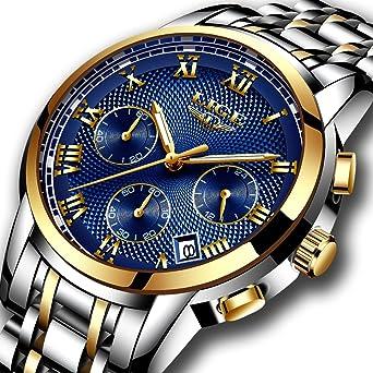 Montres,mode Luxe chronographe montre de sport, imperméable à l