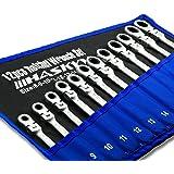 12-lg ledtrådsnål sats I set 8-19 mm I gaffelnyckel spärr