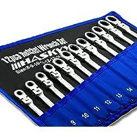 Kombinationsnyckelset 12 st I spärrnyckel I set 8-19 mm I kombinationsnyckelsats