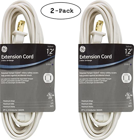 4-Pack - GE Jashep 3-Outlet Polarized Indoor Extension Cord (6 Ft) (51937) - - Amazon.com