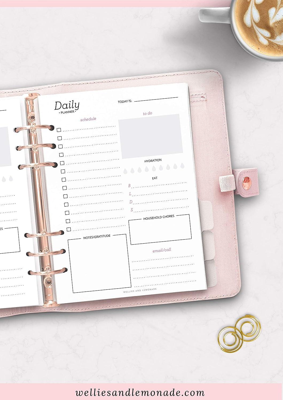 Tres meses - 90 días, planificador diario insertos ...