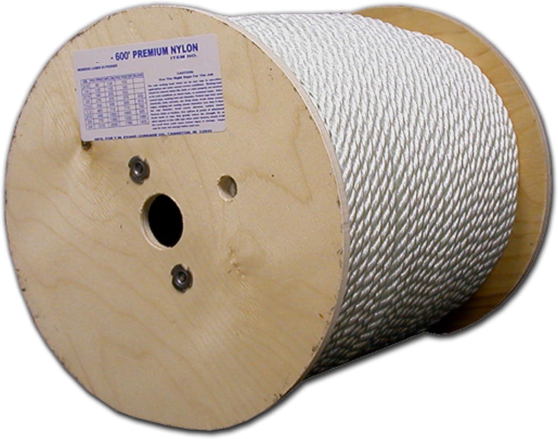 Evans Cordage Co. T.W Evans Cordage 475 Premium Polypro Rope 3//8-Inch x 600-Feet T.W