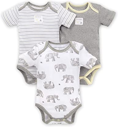 Burts Bees Baby Unisex Baby Bodysuits 2-Pack Organic Cotton Short /& Long Sleeve One-Pieces