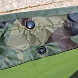 LOOGU Military Camouflage Rain Poncho for Outdoor
