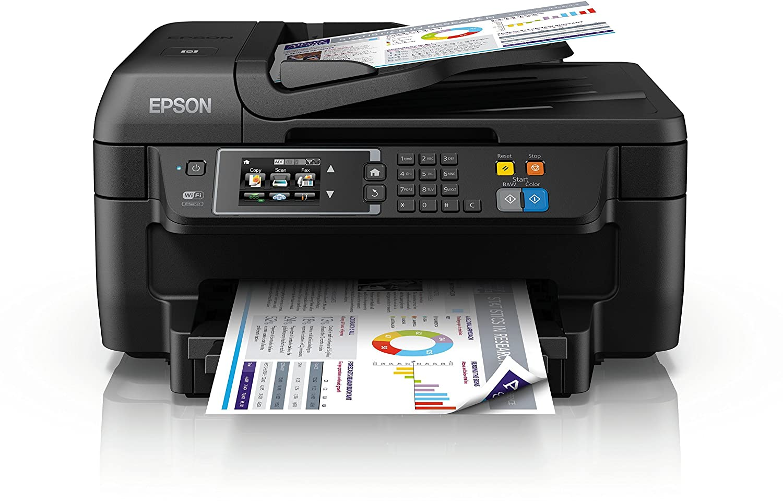 Epson WorkForce WF-2750DWF Stampante a Getto d`Inchiostro, Multifunzione (Stampante, Scanner, Fotocopiatrice, Fax), Colore Nero