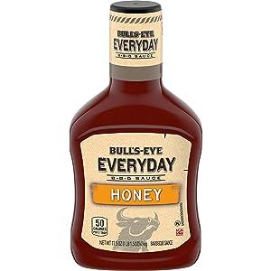 Bull's-Eye Everyday Honey BBQ Sauce (17.5 oz Bottles, Pack of 12)