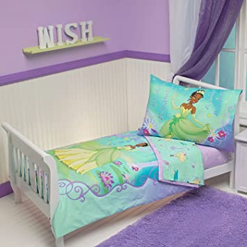 Amazon Com Princess Frog Bedding Set 4pc Tiana Lily Pads Crib