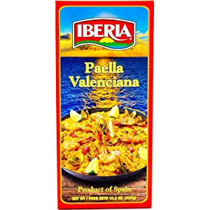 Iberia Paella Valenciana, Ready to Cook Paella Kit with Yellow Rice and Seafood Packets, Product of Spain, 15.5 oz.