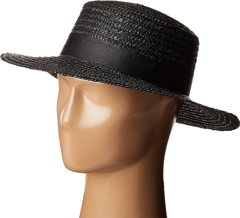 0a900ee3c Lack of Color Women's Spencer Noir Straw Boater Black LG (59cm) at ...