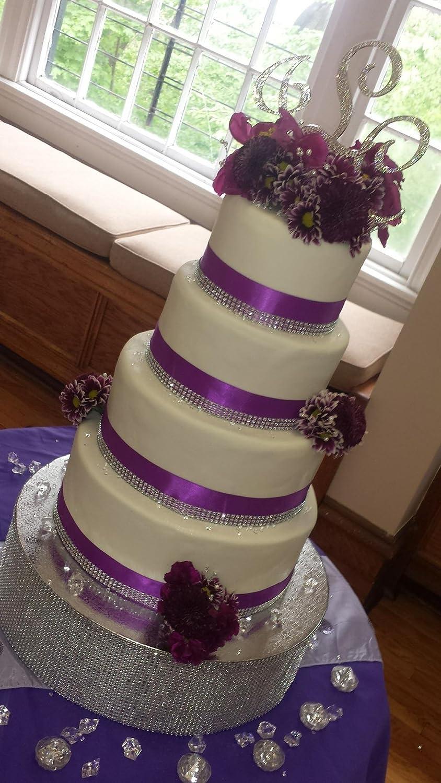 Baby Shower Birthdays Silver Arts and Crafts KUPOO 8 Row 10Yard Diamond Sparkling Rhinestone Mesh Ribbon for Event Decorations Wedding Cake