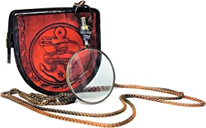 Castle Instruments Multicolored Magnifying Glass, Optical Magnifier Lens with A Beautiful Necklace Chain Monocle for Library Reading Fine Print Zooming Increase Vision Jewelry ()