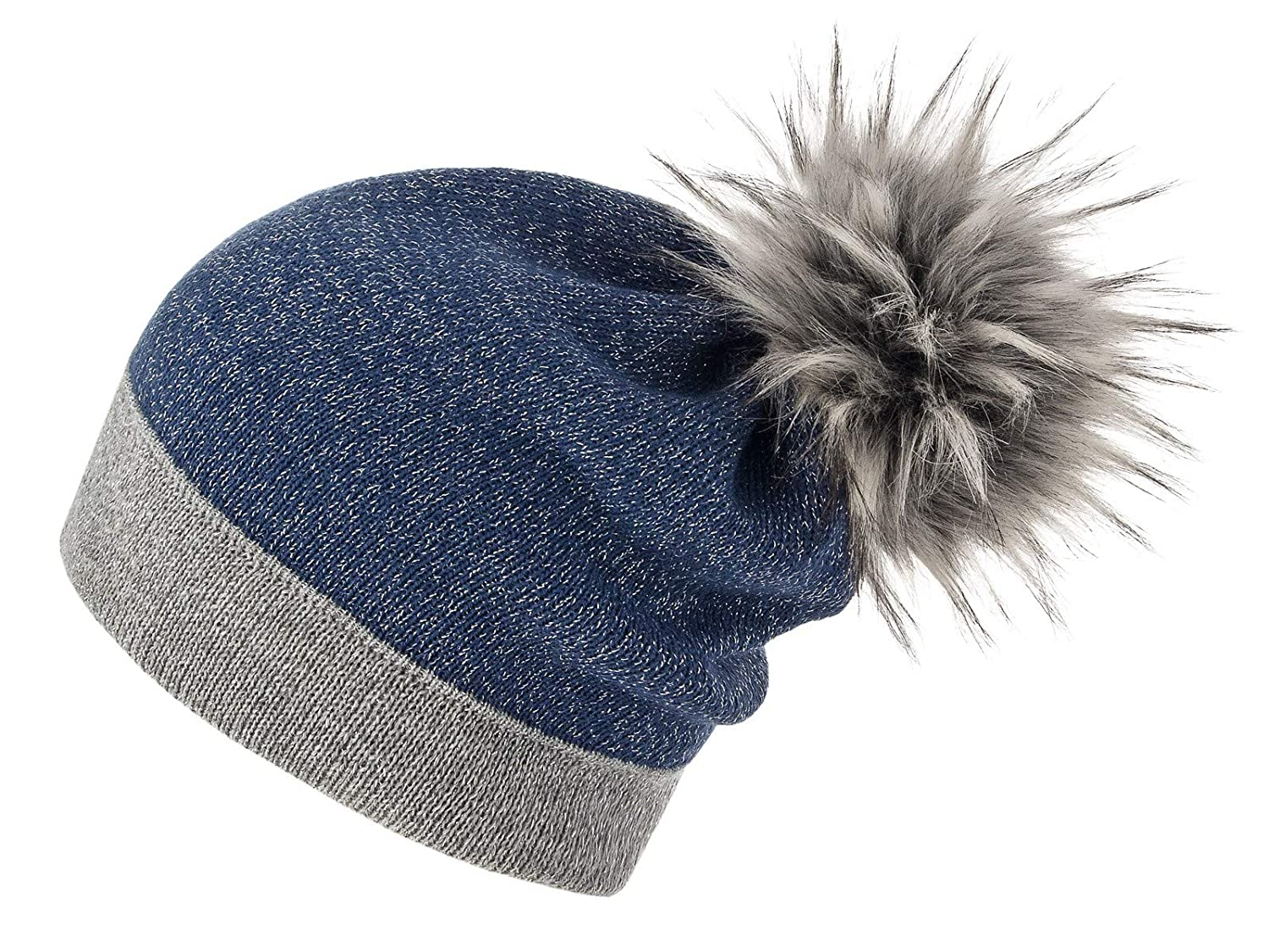 Futrzane HAT レディース B07GT7MDV3  Grey Blue Husky Raccoon Dog