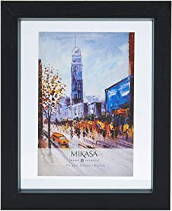 MIKASA Floating Picture Frame, 4x6-Inch, Black