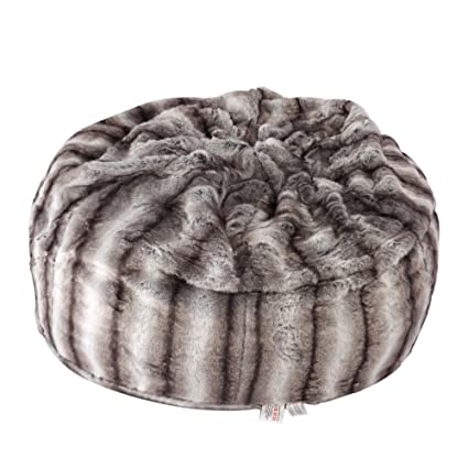 dbbe29f5baf5 Faux Fur Bean Bag Chair Luxury and Comfy Big Beanless Bag Chairs Plush Furry  Chair Soft