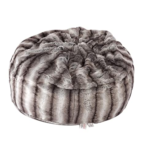 Phenomenal Luckyermore Faux Fur Bean Bag Chair Luxury And Comfy Big Beanless Bag Chairs Plush Furry Chair Soft Sofa Lounger For Adults And Kids Sponge Filling 3 Squirreltailoven Fun Painted Chair Ideas Images Squirreltailovenorg