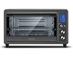Toshiba Digital Toaster Oven with Double Infrared Heating and Speedy Convection, Larger 6-slice/12-inch Capacity, 1700W, 10 F