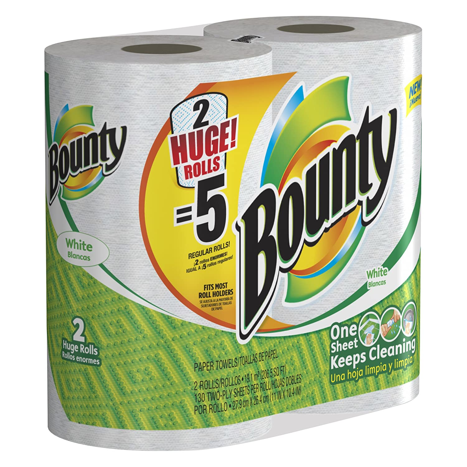 Amazon.com: Bounty Huge Roll, White, 2 Rolls (Pack of 6): Health & Personal Care