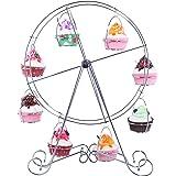 Grande roue Cupcake Dessert support de transport support–Cadre en fil d'acier–pour Cirque, réceptions, anniversaires, mariages, et plus encore–pour 8Cupcakes–43,2cm